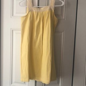Girls yellow dress by Hanna Andersson size 10